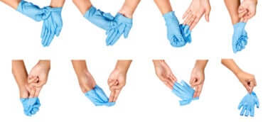Handschuhe richtig abziehen