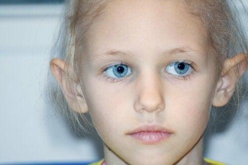 Kind mit Retinoblastom