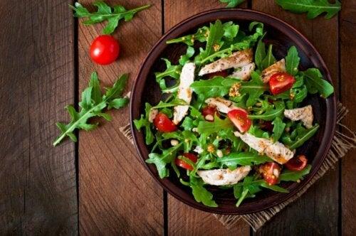 Salat mit Cherrytomaten