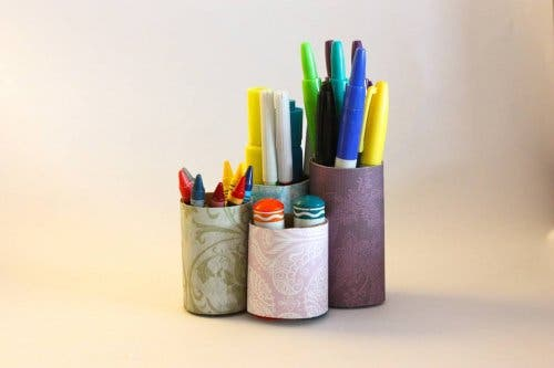 Stiftehalter aus Recycling-Material
