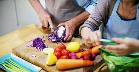 Gemeinsames Kochen als Paar