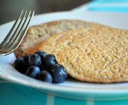 Proteinreiche Pfannkuchen mit Hafer und Dinkel