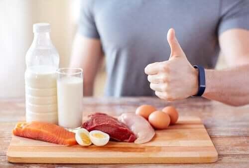 Proteinreiche Pfannkuchen, die viel Enerig liefern