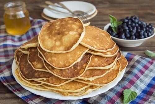 Proteinreiche Pfannkuchen mit Hafer und Eiklar