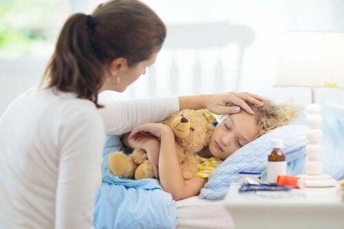 Kind mit Nesselsucht