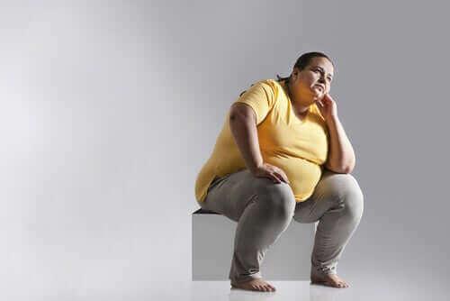Haltungshygiene - übergewichtige Frau