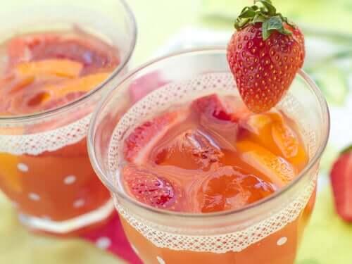 Fettlebererkrankung - Erdbeeren