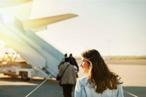 Frau mit Barotrauma nach Flug