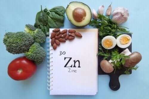 Rolle von Zink - Gemüse