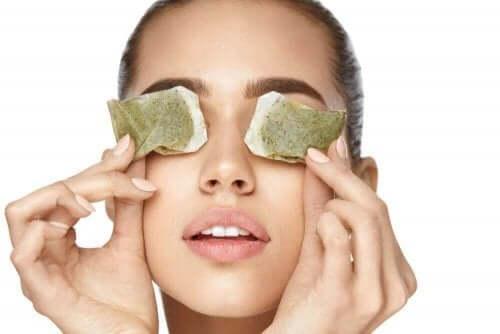 Augenschmerzen - Teebeutel