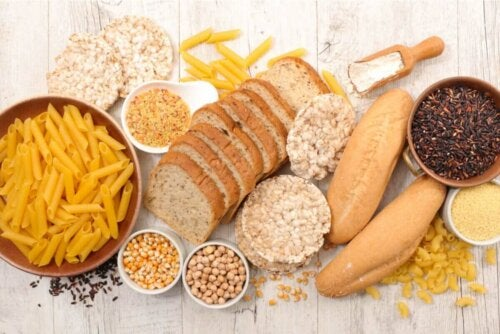 eine kohlenhydratarme Ernährung - Lebensmittel mit Kohlenhydraten