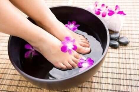 Ein Fußbad für stinkende Füße