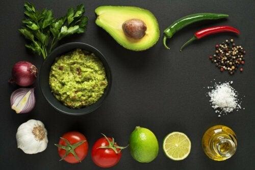 Zutaten für Garnelen-Tacos