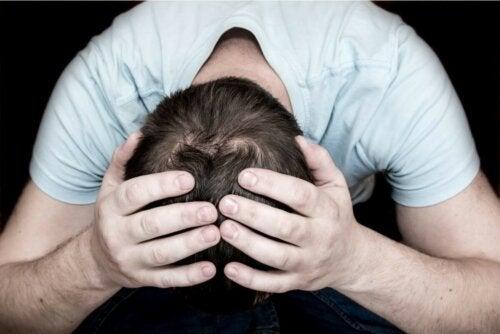 Mann Depression Krise Nervenzusammenbruch