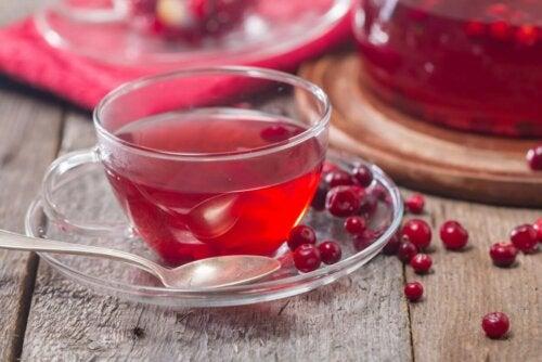 Tasse Cranberry-Tee