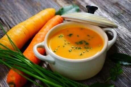 Karottensuppe zur Behandlung von Durchfall