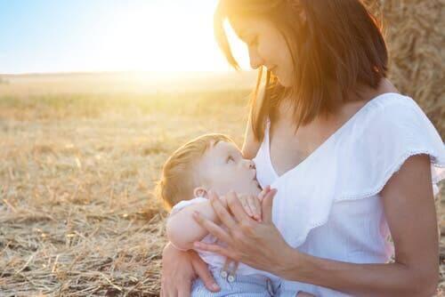 Die WHO empfiehlt, Säuglinge bis zu einem Altern von 6 Monaten voll zu stillen