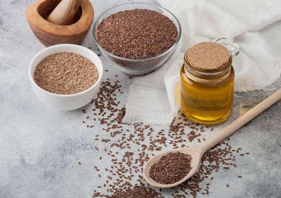 Leinsamen liefern Omega-3-Fettsäuren