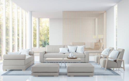Feng Shui Dekorationstipps - helles Wohnzimmer