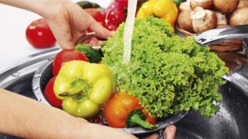 Gemüse waschen ist wichtig