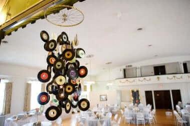Mobile aus Vinyl-Schallplatten