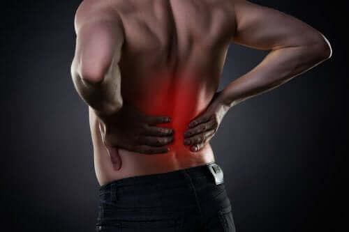 Schmerzende Lendenwirbelsäule