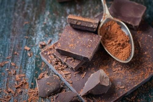 Schokolade und Löffel