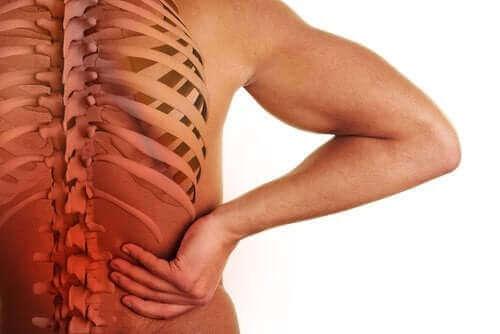 Spondyloarthritis und Schmerzen im unteren Rücken