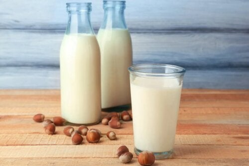 Mandelmilchkonsum