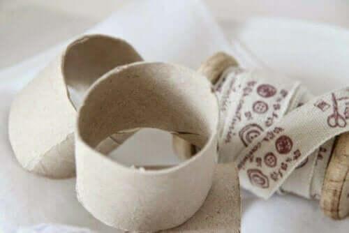 Pappringe und Washi-Tape