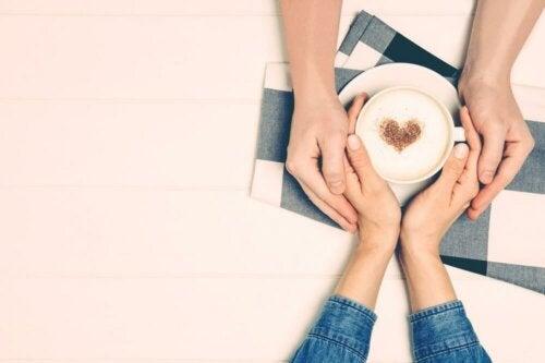Paar Kaffee Herz