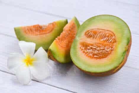 Melonenmarmelade - und eine Blüte