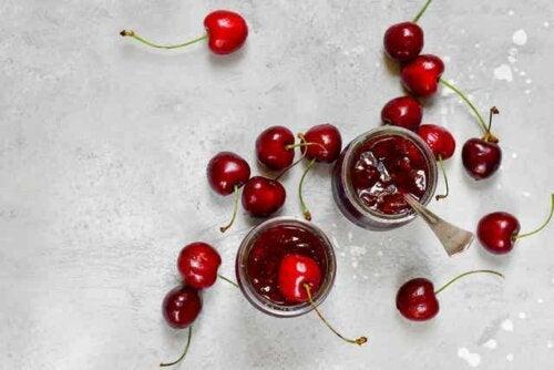 Rezept für Kirschmarmelade- Kirschen